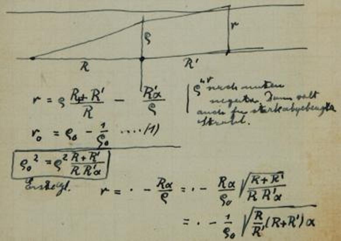 einstein  note of einstein on the gravitational lens in gr 1912